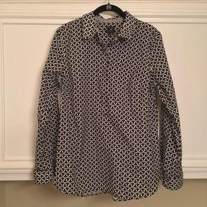 Talbots 3/4 Button Up Shirt